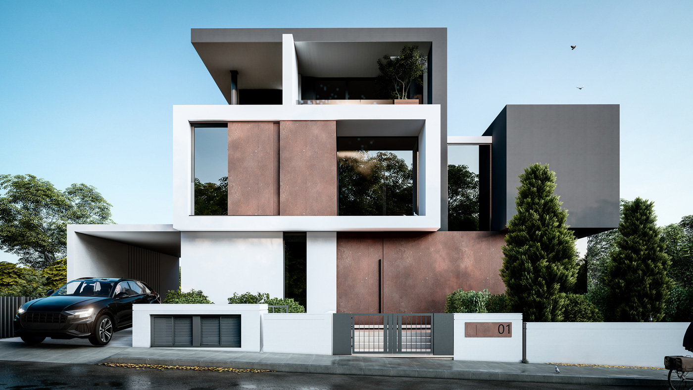 Front Architectural Visualization of RC Project